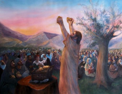 Jesus feed the multitude